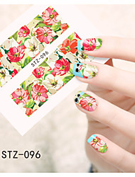 1pcs  Water Transfer Nail Art Stickers Beautiful Butterfly Colorful Flower Nail Art Design STZ96-100