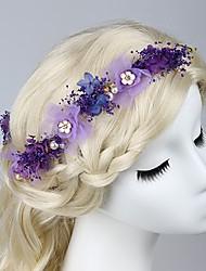 Femme Tissu Casque-Mariage / Occasion spéciale / Extérieur Serre-tête / Peigne / Epingle à Cheveux 4 Pièces
