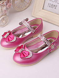 Girl's Flats Spring Summer Fall Comfort Leather Wedding Dress Party & Evening Blue Pink Peach