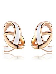 Women's Fashion  Winding Lines Stud Earrings