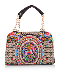 Women Canvas Bowling Tote-Multi-color
