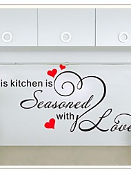 Wall Sticker This Kitchen Seasoned English Living Room Bedroom Decor Wall Stickers Waterproof Removable