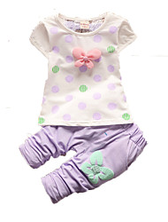 Girl's Clothing Set,Cotton Summer Pink / Purple / Red