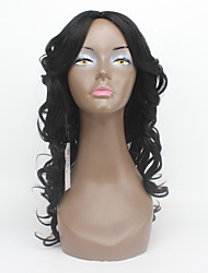 20Inch Jet Black X-TRESS Synthetic Wigs For Black Women Heat Resistant Glueless Wig Machine Made Wavy Synthetic Hair Wig