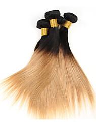 Menschenhaar spinnt Brasilianisches Haar Gerade 1 Stück Haar webt