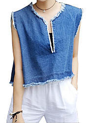 Women's Solid Large Size Loose Personality Cotton Tanks Top,Vintage Casual