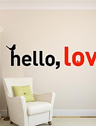 Diy Vinyl Home Decor Name Sticker Hello, Love Wall Stickers Can Remove The Sitting Room The Bedroom Wall Stickers