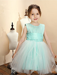 2016 New Product Sweet Tulle & Chiffon Ball Gown Knee-length Flower Girl Dresses