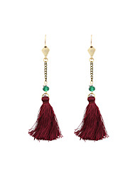 Drop Earrings Acrylic Fabric Alloy Red Jewelry Wedding Party Daily Casual Sports 1 pair