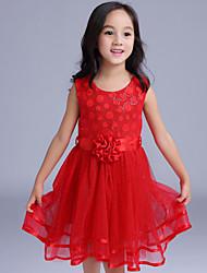 Girl's Red Dress,Polka Dot Cotton / Polyester All Seasons