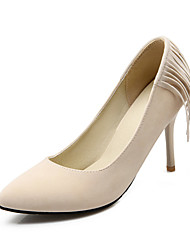 Women's Spring / Summer / Fall Heels Fleece Wedding / Dress / Casual / Party & Evening Stiletto Heel Black / Yellow / Red / Beige