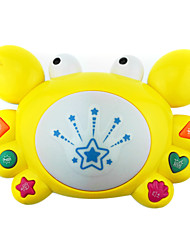 Fancy On The Drum Take Drum Music, Cartoon Kid-Learning Electric Toy Baby Crabs With Lights