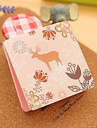 Animal Pattern Colorful Self-Stick Note(1 PCS Random Color)
