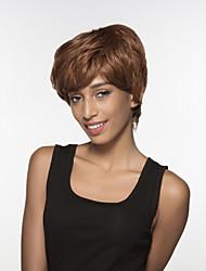 fascinante cabelo sem tampa Remy mão cabelo humano curto das mulheres amarrado peruca -top