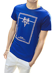 In the summer of 2016 new men's t-shirt - Korean male young students slim cotton print T-shirt tide