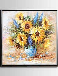 Handmade Sunflowers  Oil Painting,Canvas One Panel