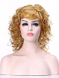 capless blonde et très bouclés perruques de longue synthétique femme perruque de cheveux costume pour la vie quotidienne