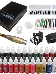 Solong Tattoo Permanent Makeup Kit Tattoo Pen Eyebrow Lip Machine Set 23 Makeup Inks EK707-4
