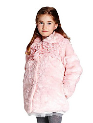 Girl's Pink Jacket & Coat Cotton Winter