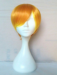 New Arrival Cosplay Wig Party Wig Blonde Short Straight Animated Synthetic Hair Wigs Cartoon Wig