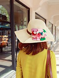 Mujer Sombrero Floppy Bonito / Fiesta / Casual-Primavera / Verano / Otoño-Paja