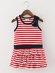 Summer Style Girls Fashion Stripes Casual Children Clothing Sleeveless Tank Dress 2016 Summer New Kids Clothes
