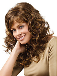 Classic Long Curly Wigs for Europe and American Ladies Daily Wearing