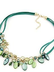 Collar Colgante(Aleación / Piedra Preciosa y Cristal / Resina / CueroVintage / Bonito / Fiesta / Trabajo / Casual