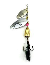 """5 pcs Cebos Cucharas Cebo metálico Colores Aleatorios g/Onza,105mm mm/4-1/4"""" pulgada,MetalPesca de Mar Pesca de agua dulce Otros Pesca de"""