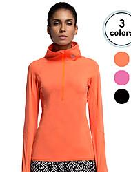 Vansydical Femme Séchage rapide Sport de détente Hauts/Tops Rouge / Noir / Orange
