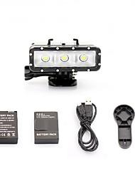 Accessoires pour GoPro batterie / Spot Light LED / Clés à Molette / Câble Etanches / Pratique / Résistant à la poussière, Pour-Caméra