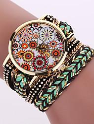 Women's Quartz Analog White Case Weave Leather Band Bracelet Wrist Fashion Watch Jewelry Cool Watches Unique Watches