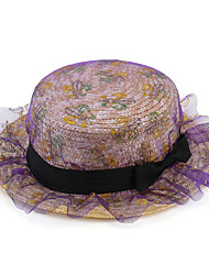 Women Mesh / Straw Fedora Hat,Cute / Party / Casual Spring / Summer / Fall