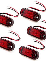 5 x 2 vermelhos levou lado marcador reboque luzes indicadoras de caminhão de 10 ~ 30V