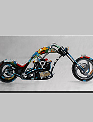 Lager Handmade Motorcycle Oil Painting On Canvas Wall Paintings For Living Room Home Decor Whit Frame