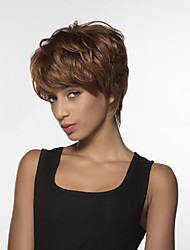 Towheaded Short Wavy  Remy Human Hair Hand Tied Top Wig for woman's