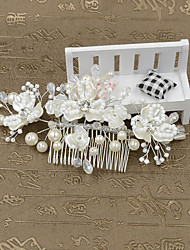 Women's Imitation Pearl / Plastic Headpiece-Wedding / Special Occasion / Casual / Outdoor Hair Combs / Flowers 1 Piece
