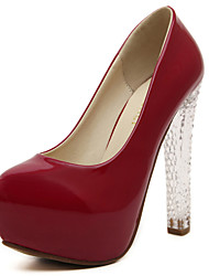 Women's Shoes Leatherette Stiletto Heel Heels / Snow Boots / Fashion Boots / Gladiator / Basic Pump /Round ToeHeels