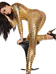 Women's  Hollow Out PVC Latex Catsuit Fancy Dress Plus XL XXL Size