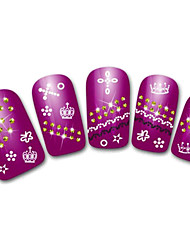 Snowflake/Leopard/Lace White/Black Lovely 3D Nail Sticker