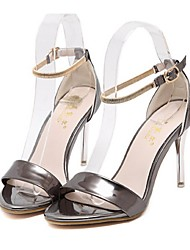Women's Shoes Stiletto Heel Open Toe Sandals Casual Silver / Gold