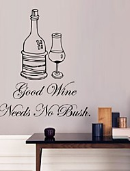 Creative New Wall Art Home Decoration Removable Good Wine What Wall Stickers Living Room Bedroom