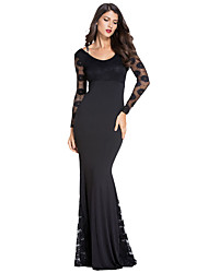 Women's Cocktail Evening Party Long Lace Dress
