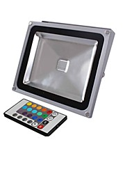 20W LED Floodlight 1 Integrate LED 1900 lm RGB Remote-Controlled AC 85-265 V