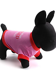 Hunde T-shirt Grün / Rosa Hundekleidung Sommer Blumen / Pflanzen Modisch