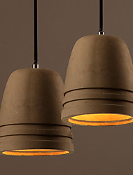 American Rural Industry Style Vintage Cement Chandelier for The Living Room, Study Room and Dining Room