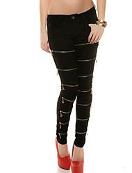 Pantalon Aux femmes Slim Simple / Street Chic Coton / Acrylique Micro-élastique
