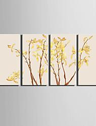 Botanisch Leinwand drucken Vier Panele Fertig zum Aufhängen,Vertikal