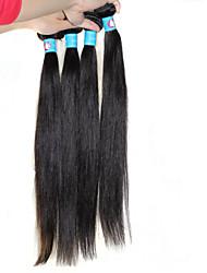 não transformados peruanas virgens extensões de cabelo humano direto 1b remy preto tecer cabelo humano mixeed comprimentos 4pcs / lot 8