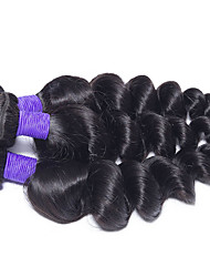 3Pcs/Lot Peruvian Virgin Hair Loose Wave  Human Hair Weave Bundles Rosa Queen Hair Products